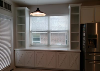 Custom Hutch Breakfast Nook Remodel