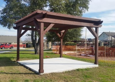Pergola With Concrete Slab