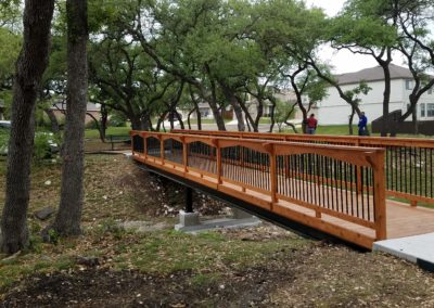 Pedestrian Walk Bridge Construction San Antonio