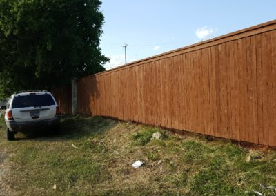 Fencing Cedar Trim & Cap With Metal Poles