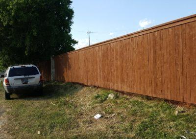 Fencing Cedar Trim & Cap With Metal Poles