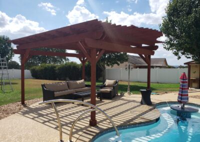 Backyard Poolside Pergola Construction Build