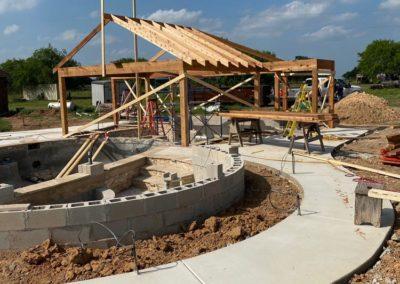 Pool Pavilion Construction