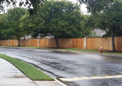 Subdivision Privacy Fence Construction
