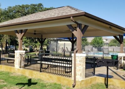 Hip Roof Pavilion - HOA Home Owners Association