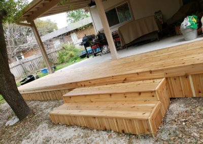 Back Porch Deck Extension
